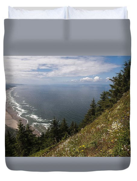 Mountain And Beach Duvet Cover