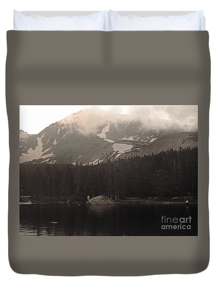 Mountain Anglers Duvet Cover by Thomas Bomstad
