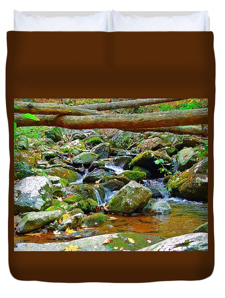 Mountain Appalachian Stream 2 Duvet Cover