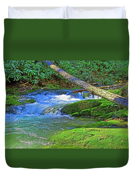 Mountain Appalachian Stream Duvet Cover