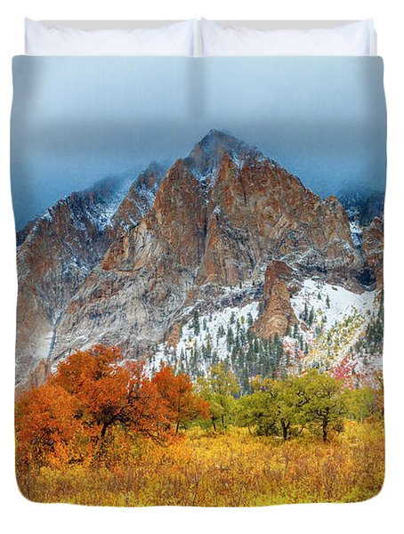 Mountain Autumn Color Duvet Cover