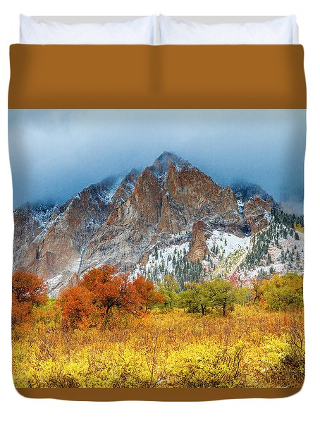 Mountain Autumn Color Duvet Cover by Teri Virbickis