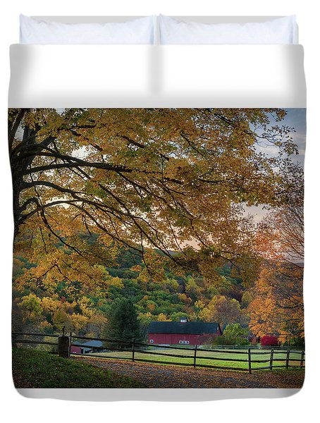 Duvet Cover featuring the photograph Mountain Barn by Bill Wakeley