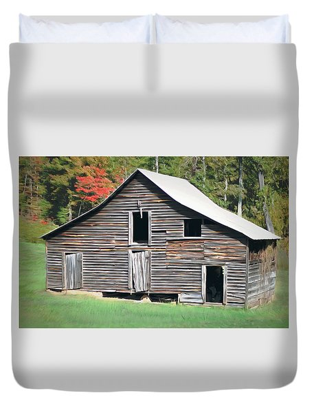 Mountain Barn Duvet Cover by Marion Johnson
