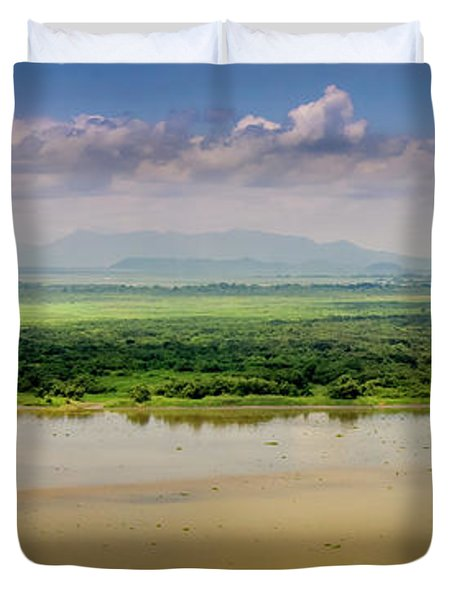 Mountain Beyond The River Duvet Cover