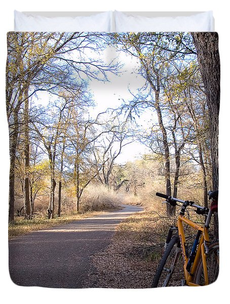 Mountain Bike Trail Duvet Cover