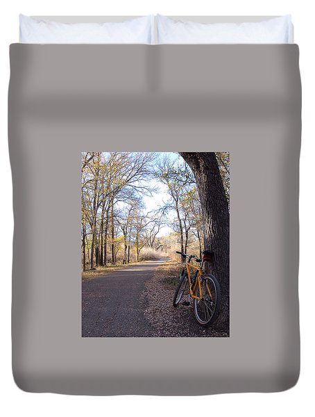 Mountain Bike Trail Duvet Cover