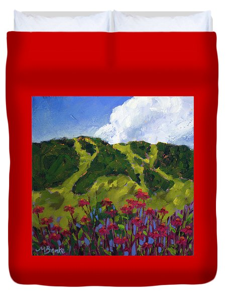 Mountain Blooms Duvet Cover
