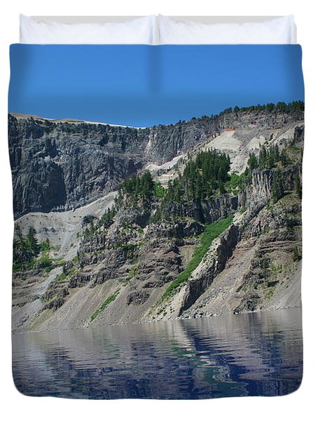 Duvet Cover featuring the photograph Mountain Blue by Laddie Halupa