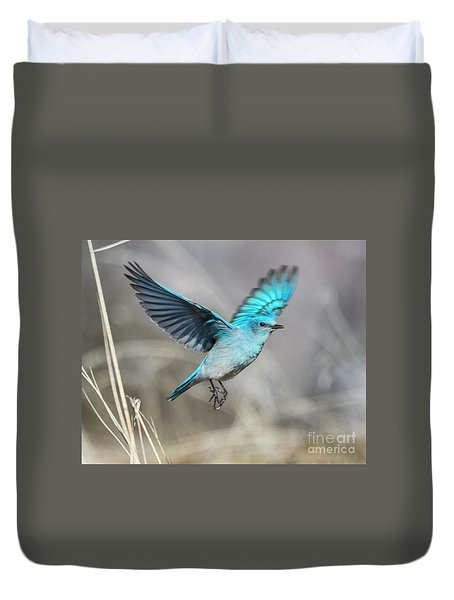 Mountain Blue Duvet Cover by Mike Dawson