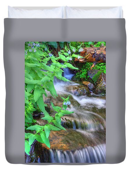Mountain Bluebells Duvet Cover