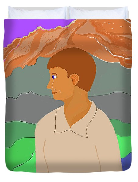 Mountain Boy Duvet Cover by Fred Jinkins