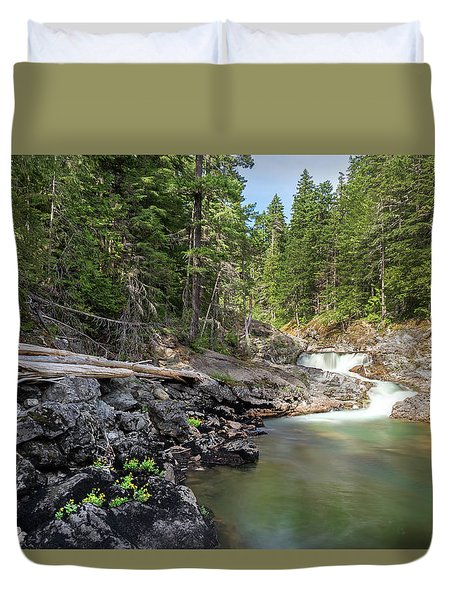 Mountain Cascade Duvet Cover