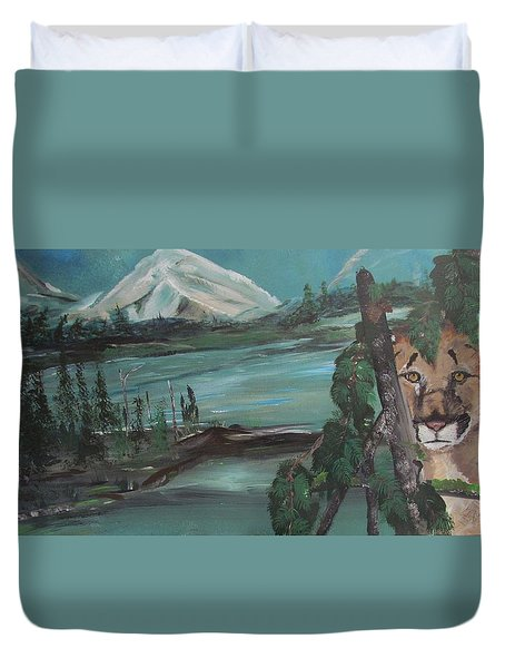 Mountain Cat Duvet Cover