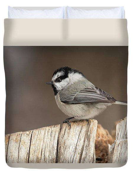 Mountain Chickadee Duvet Cover