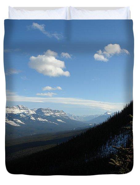 Mountain Corridor Duvet Cover by Greg Hammond