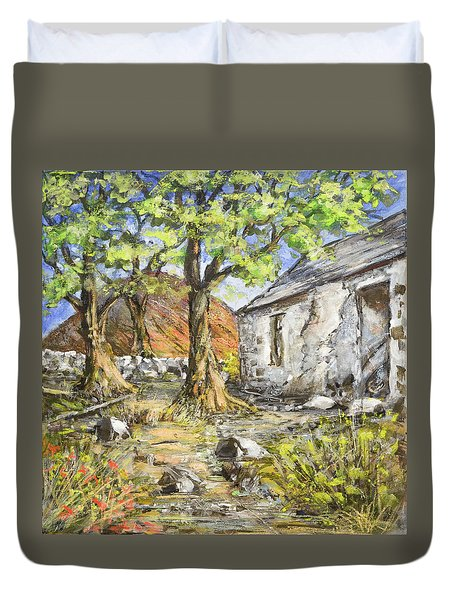 Mountain Cottage Duvet Cover