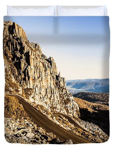 Mountain Drive Duvet Cover