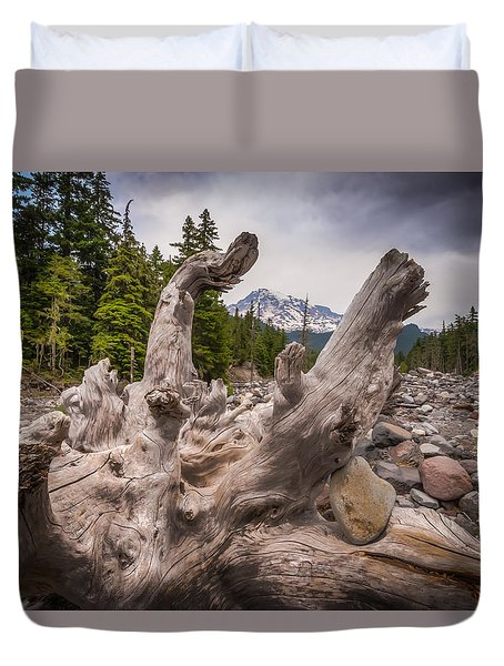 Mountain Dry River Duvet Cover by Chris McKenna