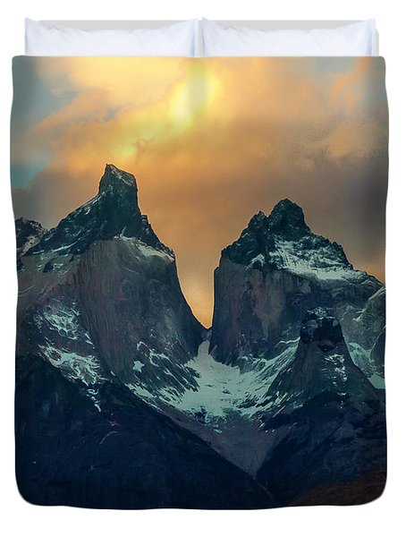 Mountain Evening Duvet Cover by Andrew Matwijec