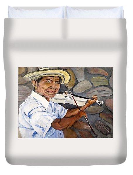 Mountain Fiddler Duvet Cover by Marilyn McNish