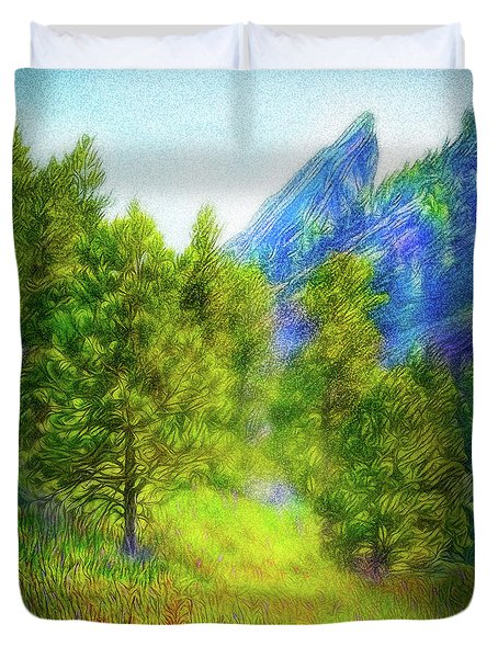 Mountain Field Springtime Duvet Cover