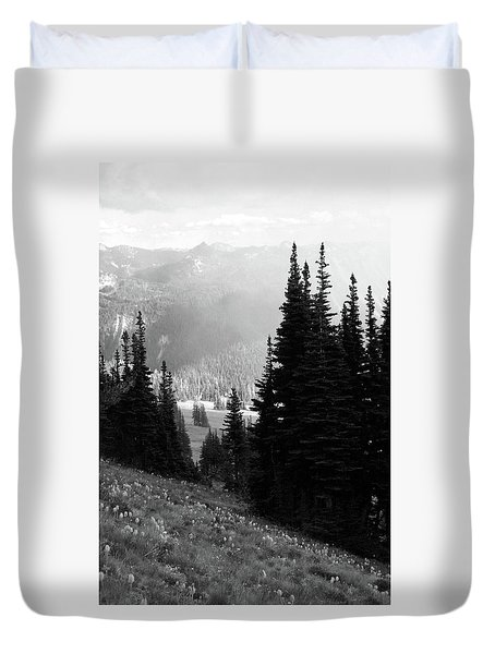 Mountain Flowers Duvet Cover