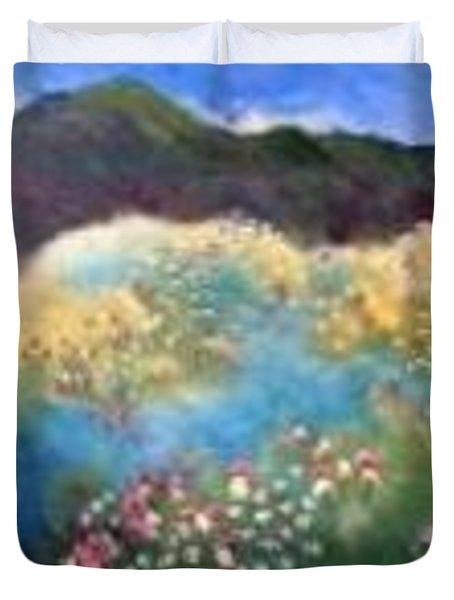 Mountain Flowers Duvet Cover
