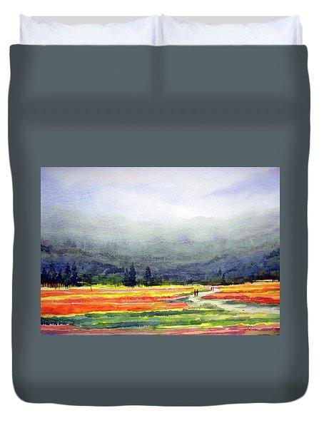Mountain Flowers Valley Duvet Cover