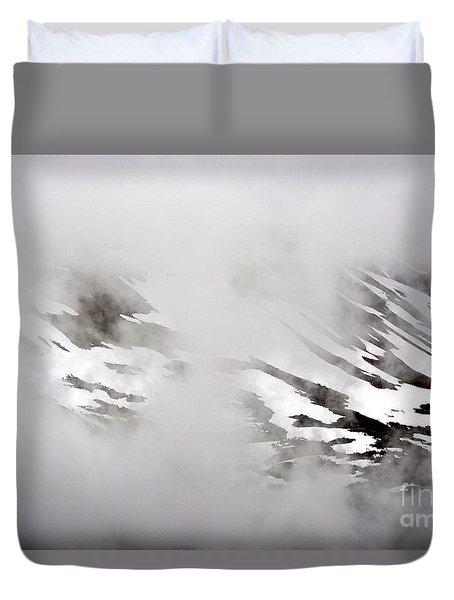 Mountain Fog - Alaska Duvet Cover