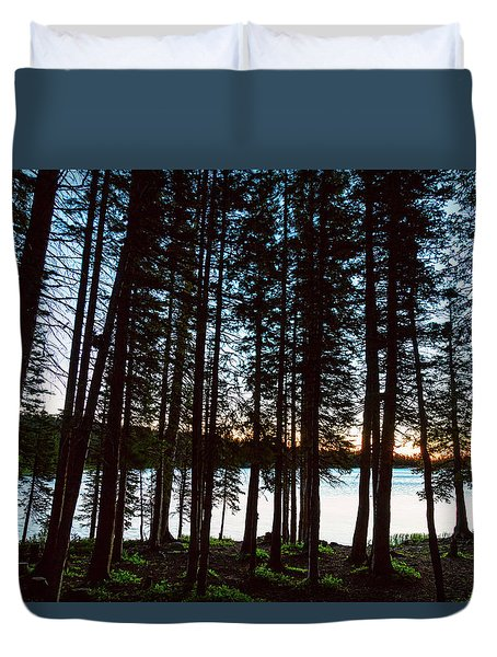 Duvet Cover featuring the photograph Mountain Forest Lake by James BO Insogna