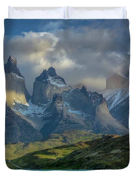 Mountain Glimmer Duvet Cover by Andrew Matwijec