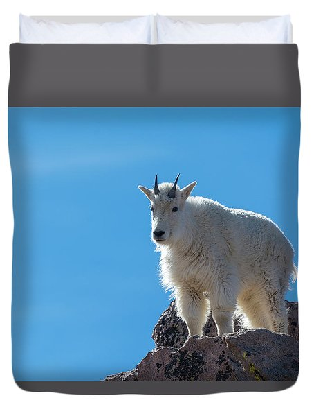 Duvet Cover featuring the photograph Mountain Goat 4 by Gary Lengyel