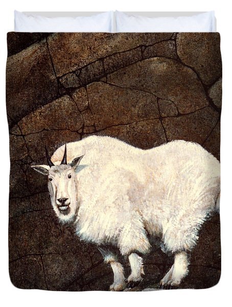 Mountain Goat Duvet Cover by Frank Wilson