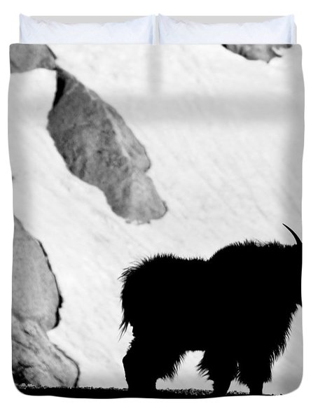Mountain Goat Shadow Duvet Cover by Colleen Coccia