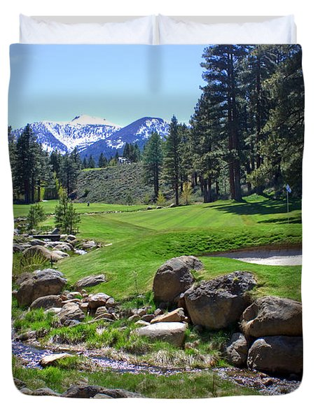 Mountain Golf Course Duvet Cover