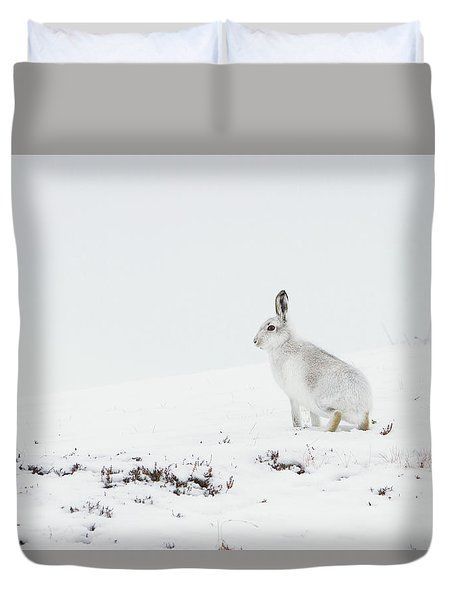 Mountain Hare Side On Duvet Cover