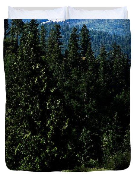 Mountain Herd Duvet Cover