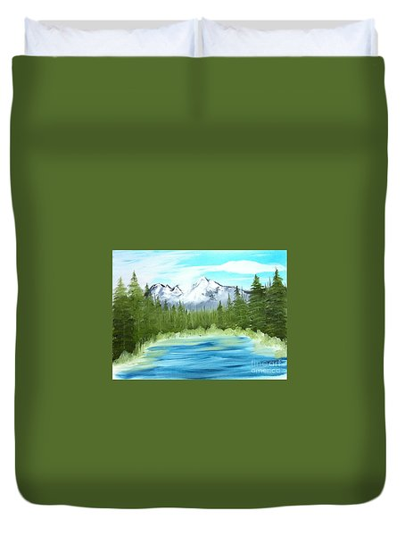 Mountain Imagining Duvet Cover
