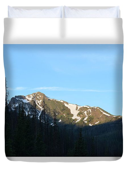 Mountain In Rocky Mountian Np Co Duvet Cover