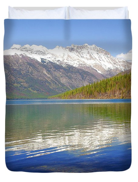 Mountain Lake 4 Duvet Cover by Marty Koch