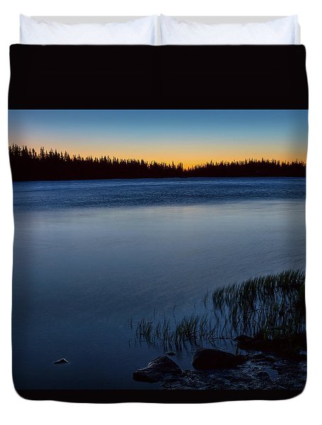 Duvet Cover featuring the photograph Mountain Lake Glow by James BO Insogna