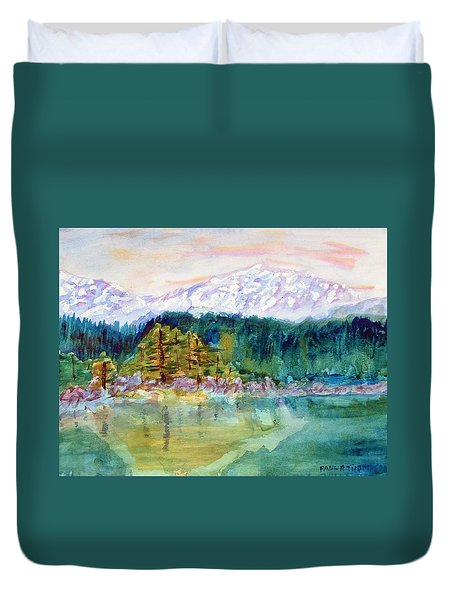 Mountain Lake Duvet Cover