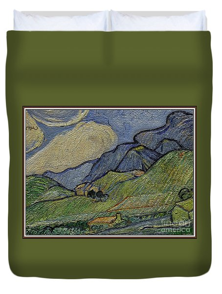 Mountain Landscape Duvet Cover by Pemaro