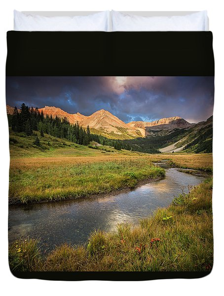 Mountain Light Duvet Cover
