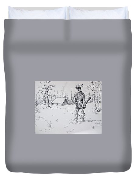 Mountain Man Duvet Cover by Kevin Heaney