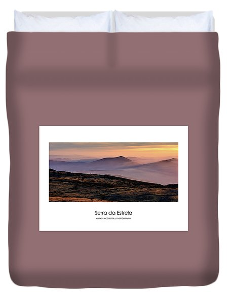 Mountain Mist Poster Duvet Cover by Marion McCristall