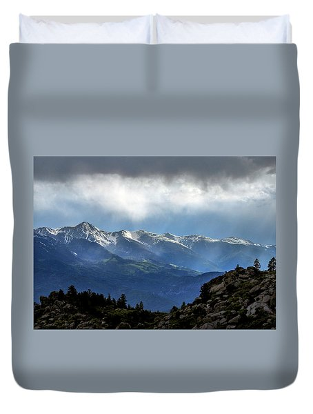 Mountain Moodiness Duvet Cover