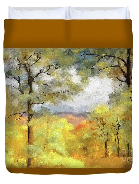 Mountain Morning Duvet Cover