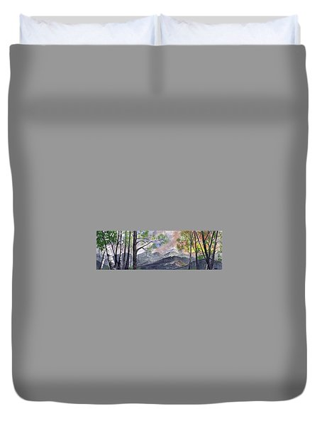 Mountain Morning Duvet Cover by Terry Cork